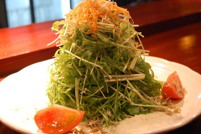 水菜とじゃこのとろとろみぞれサラダ